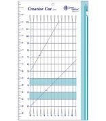 June Tailor 25cm -by-43cm Creative Cut Ruler