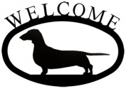 Village Wrought Iron WEL-241-S Welcome Sign-Plaque - Dachsund-Dog