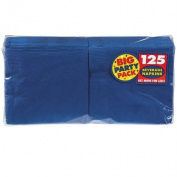 Big Party Pack Beverage Napkins 13cm x 13cm 125/Pkg-Bright Royal Blue