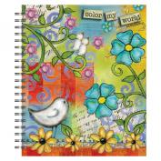 Artisan Spiral Bound Sketchbook, Colour My World