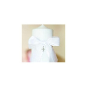 Beverly Clark 38PT Grace Pillar Candle in White