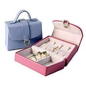 Budd Leather 541001-13 Leather Petite Handbag Jewel Box - Purple