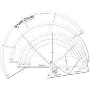 June Tailor Simple Circles Rotary Cutting Rulers-Set Of Six