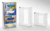 Horizon Manufacturing 5103 2-Box Vertical Stacking Glove Dispensers - Clear Plastic