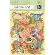 K &Company 463089 Spring Blossom Die-Cut Cardstock & Acetate-Icons