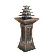 Ore International K334 100cm Pyramid Tiered Indoor/Outdoor Fountain