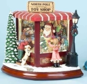 20.3cm Amusements LED Lighted Animated & Musical North Pole Christmas Toy Shop
