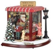 Amusements LED Lighted Animated & Musical North Pole Toy Shop Christmas Decor