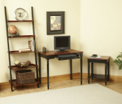 Convenience Concepts 6042196 French Country Desk - Two Tone Cherry and Black