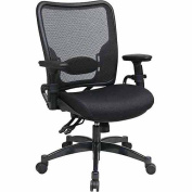Office Star Space Seating Professional Dual Function Ergonomic AirGrid Mesh Office Chair, Black