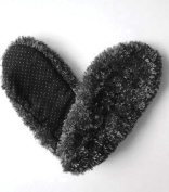 Fuzzy Footies Women's Black Slip Resistant Lounge Slippers