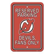 Fremont Die 80202 New Jersey Devils Plastic Parking Sign