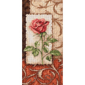 """Dimensions Gold Collection """"Petite Single Rose"""" Counted Cross Stitch Kit, 10cm x 20cm"""