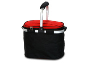 Picnic Plus PSM-148BR Shelby Collapsible Market Tote-Black-Red