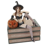 Design Toscano Halloween Temptress Witch Shelf Sitter Statue