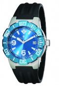 Charles-Hubert Paris 3899-BE Mens Stainless Steel Blue Dial Quartz Watch
