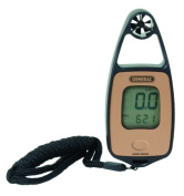 General Tools & Instruments DAF3300 Mini Airflow-Temperature Meter With Wind Chilland Compass