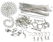 Cousin 479878 Jewellery Basics Metal Findings 145-Pkg-Silver Starter Pack