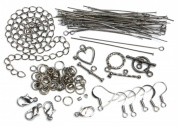 Cousin 479977 Jewellery Basic Metal Findings 145-Pkg-Gunmetal Starter Pack