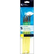 Loew-Cornell 473021 White Nylon Craft Brush Set-5-Pkg
