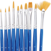 Reeves Golden Synthetic Brush Set, 10-Pack