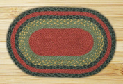 Capitol Importing 00-238 Burgundy-Olive-Charcoal - 10 in. x 15 in. Oval Swatch
