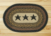 Capitol Importing 81-099S Stars - 10 in. x 15 in. Hand Printed Oval Swatch
