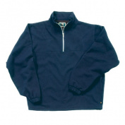 Berne Apparel SP250NVR360 Small Regular Original Fleece Quarter Zip Sweatshirt - Navy