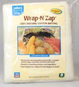 Wrap-N-Zap 100% Natural Cotton Batting 110cm x 90cm -Natural