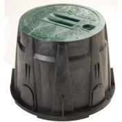 Rainbird 25.4cm . Green Round Valve Box With Lid VBRND10