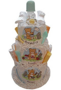 Baby Gift Idea DCAKEBLD Breakfast Lunch and Dinner Nappy Cake