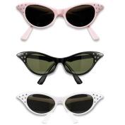 Peter Alan Inc 19426 1950's Sunglasses Adult Black