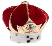 Elope Costumes King Red Adult Hat