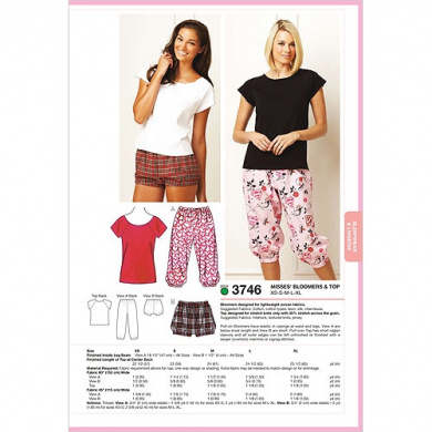 Kwik Sew Pattern Bloomers and Top,