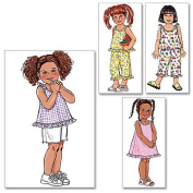 Butterick Pattern Toddlers' and Children's Top, Dress, Shorts and Pants,
