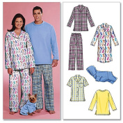 McCall's Pattern Misses', Men's and Teen Boys' Tops, Nightshirt, Pants and Sweatsuit, Z