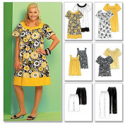 McCall's Patterns M5640 Women's Tops, Dresses, Shorts and Capri Pants, Size RR