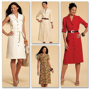McCall's Pattern Misses' Shirtdresses in 3 Lengths and Sash, E5