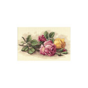 """Dimensions """"Rose Cuttings"""" Counted Cross Stitch Kit, 36cm x 23cm"""