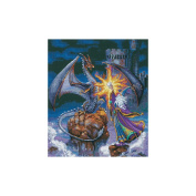 """Dimensions Gold Collection """"Magnificent Wizard"""" Counted Cross Stitch Kit, 30cm x 36cm"""