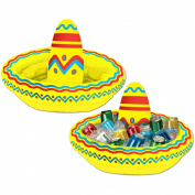 Beistle 50254 Inflatable Sombrero Cooler - Pack of 6