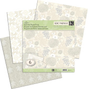 K&Company 426134 Elegance Glitter Paper Pack 12 in. x 12 in. -6 Sheets