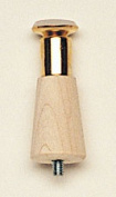 Waddell Tables 10cm . Wood Round Taper Table Leg NATURAL 2504