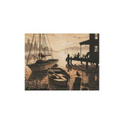 Dimensions 35018 Peaceful Silhouette Counted Cross Stitch Kit-33cm x 25cm 14 Count
