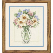 Flowers In Tall Vase Counted Cross Stitch Kit-30cm X36cm