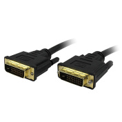 Comprehensive DVI-DVI-15ST-A Standard Series 28 AWG DVI-D Dual Link with Audio Cable 15ft
