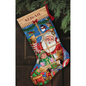 """Dimensions Gold Collection """"Santa's Toys Stocking"""" Counted Cross Stitch Kit, 41cm Long"""