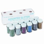 Pacon Corporation Spectra Glitter 6-Colour Assortment, 3/120ml Shaker-Top Jars, 12 per Pack
