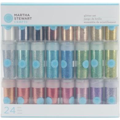 Martha Stewart Glitter .1090ml 24/Pkg-Bling Sparkle