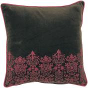 Surya P0130-1818P 46cm x 46cm Poly-Filler Decorative Pillow - Brown-Fuchsia